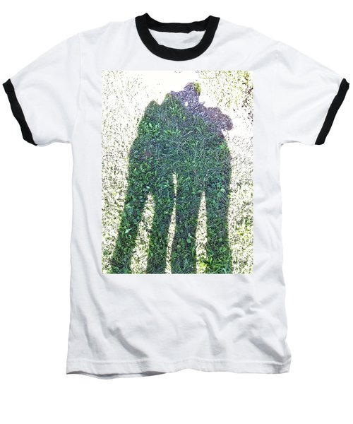 Baseball T-Shirt featuring the photograph Shadow In The Meadow by Wilhelm Hufnagl