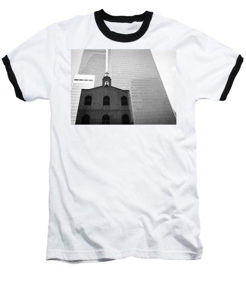 Shadow Of World Trade Center Baseball T-Shirt