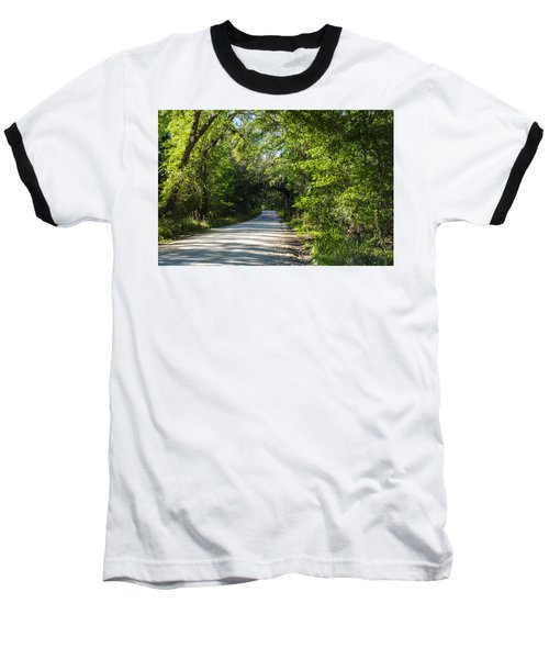 Baseball T-Shirt featuring the photograph Shady Lane In Ocklawaha by Deborah Smolinske