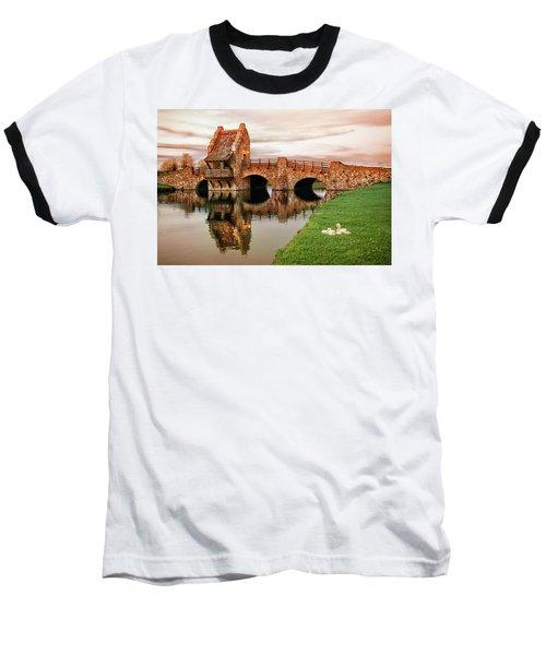 Shakespeare Bridge Baseball T-Shirt by Iryna Goodall