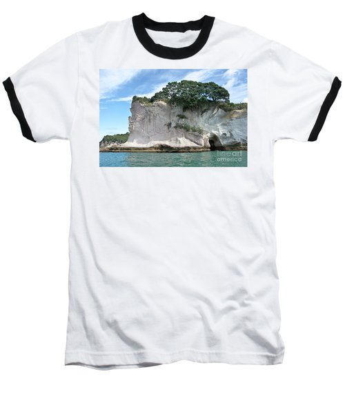 Baseball T-Shirt featuring the photograph Shakespeare Rock, New Zealand by Yurix Sardinelly