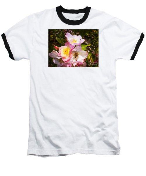 Shakespeares Summer Roses Baseball T-Shirt