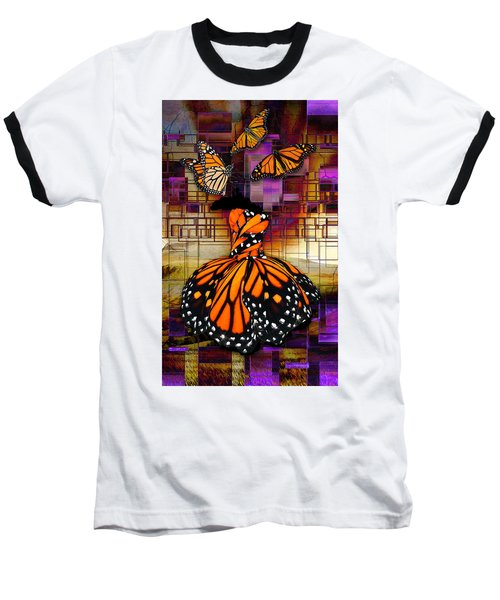 Baseball T-Shirt featuring the mixed media Shape Shifting by Marvin Blaine