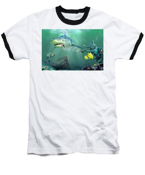 Baseball T-Shirt featuring the photograph Shark Bait by Don Olea