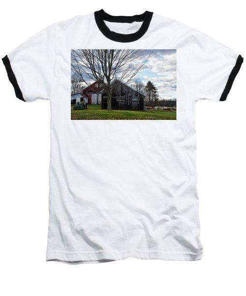 Shaw Hill Farm Baseball T-Shirt by Tricia Marchlik