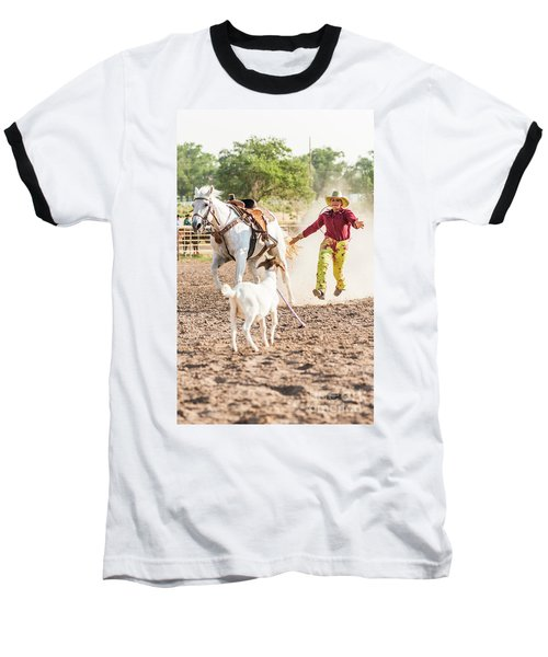 Shawnee Sagers Goat Roping Competition Baseball T-Shirt
