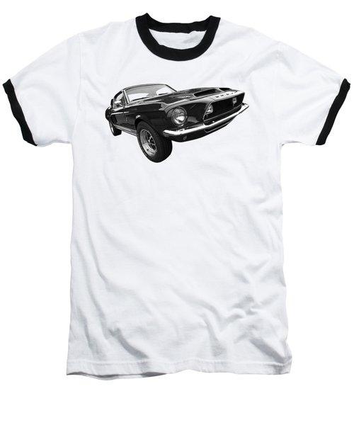 Shelby Gt500kr 1968 In Black And White Baseball T-Shirt