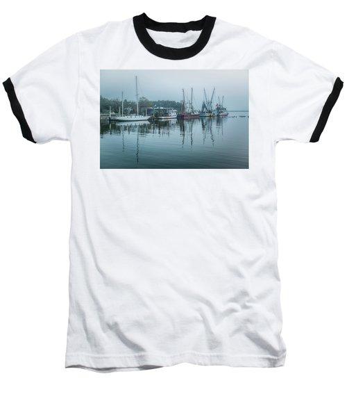 Shem Creek Fog Baseball T-Shirt