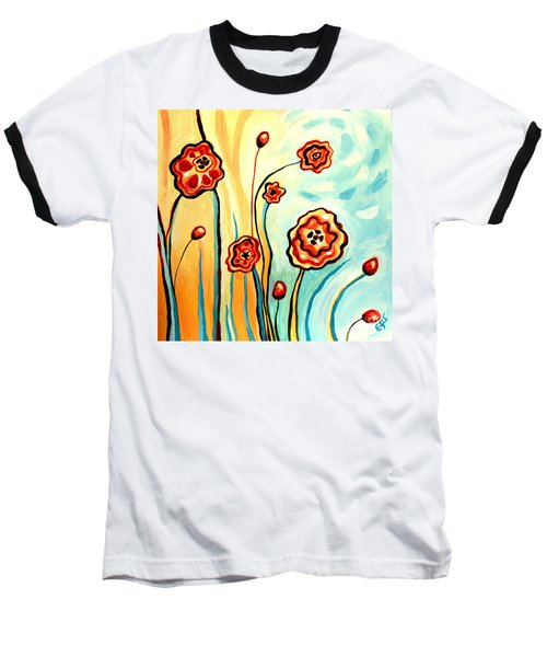 Sherbert And Powder Blue Skies Baseball T-Shirt