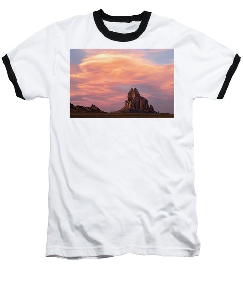 Shiprock At Sunset Baseball T-Shirt