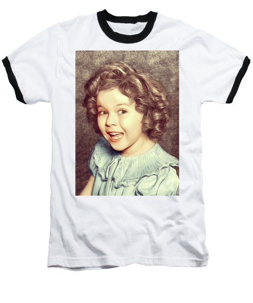 Shirley Temple, Actress Baseball T-Shirt