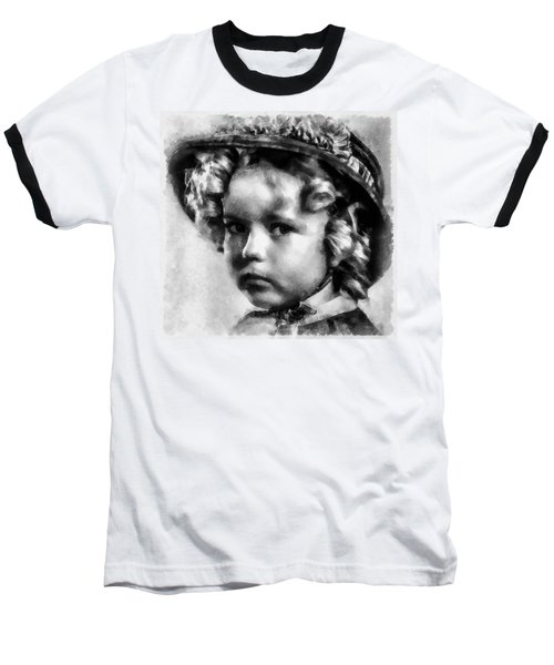 Shirley Temple Vintage Actress Baseball T-Shirt