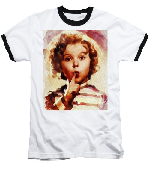 Shirley Temple, Vintage Movie Star Baseball T-Shirt