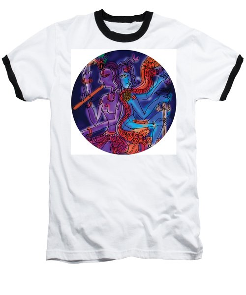 Shiva And Krishna Baseball T-Shirt