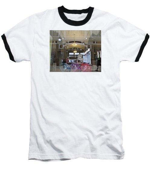 Shop Window  Baseball T-Shirt by Anna Yurasovsky
