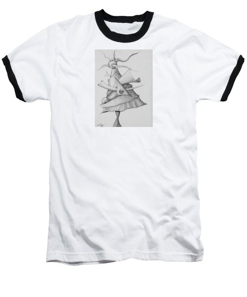 Baseball T-Shirt featuring the drawing Plasma Tree by Charles Bates