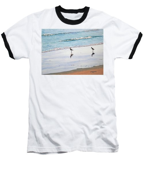 Shore Birds Baseball T-Shirt by Mike Robles