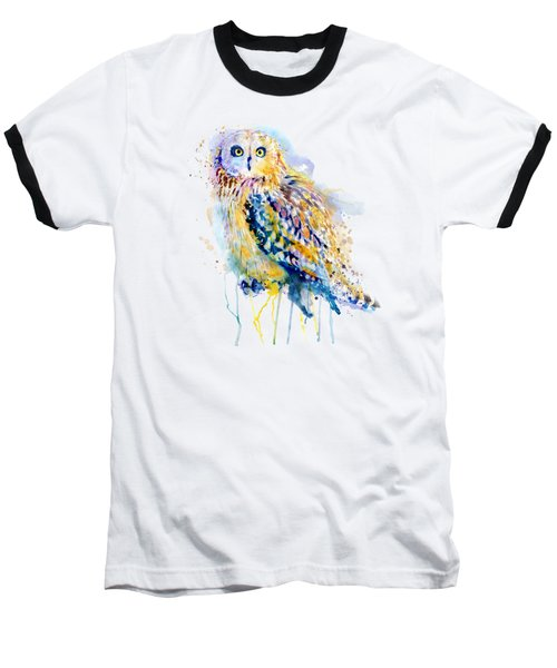 Short Eared Owl  Baseball T-Shirt