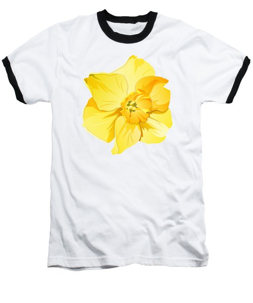 Short Trumpet Daffodil In Yellow Baseball T-Shirt by MM Anderson