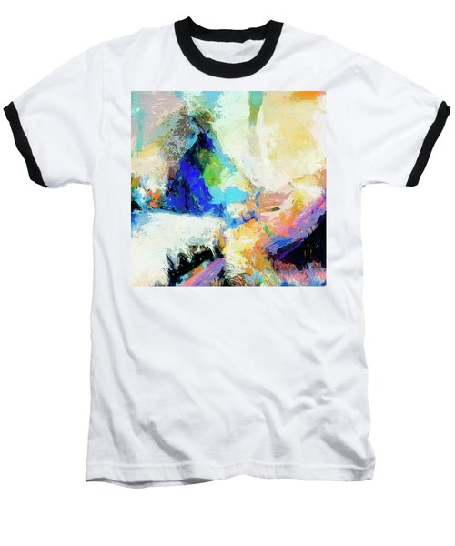 Baseball T-Shirt featuring the painting Shuttle by Dominic Piperata