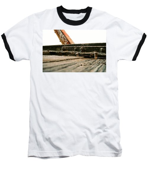 Side Of Rail #photography #trains Baseball T-Shirt