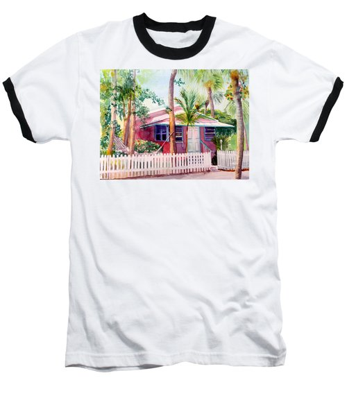 Siesta Key Cottage Baseball T-Shirt