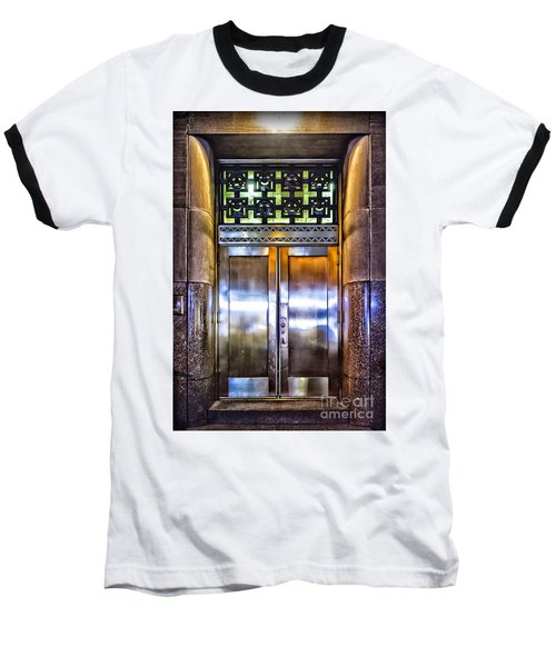 Baseball T-Shirt featuring the photograph Sights In New York City - Bright Door by Walt Foegelle