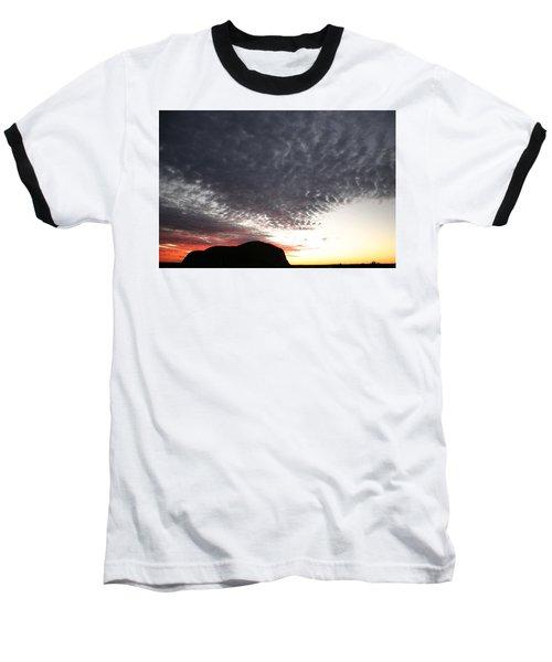 Silhouette Of Uluru At Sunset Baseball T-Shirt