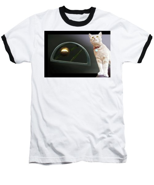 Cat, Silver And Gold  Brooch Baseball T-Shirt