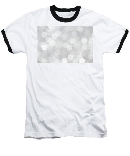 Silver Grey Bokeh Abstract Baseball T-Shirt