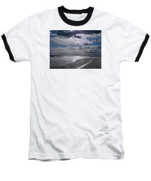 Baseball T-Shirt featuring the photograph Silver Linings Trim The Sea by Lynda Lehmann