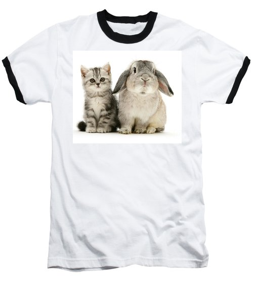 Silver Tabby And Rabby Baseball T-Shirt