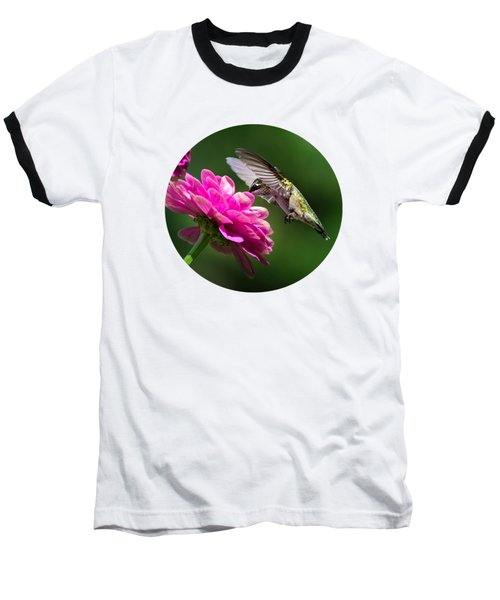 Baseball T-Shirt featuring the photograph Simple Pleasure Hummingbird Delight by Christina Rollo