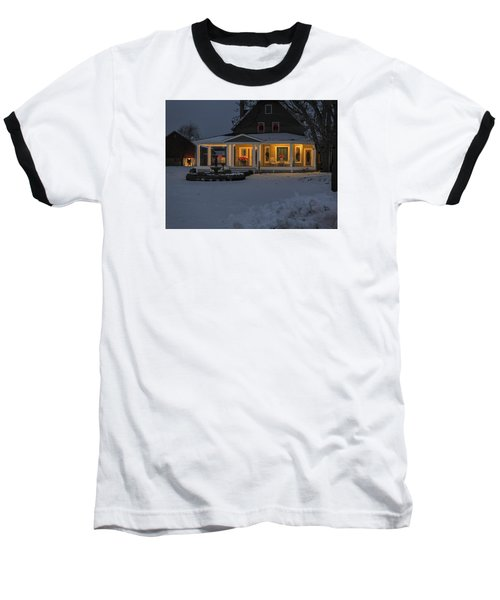 Baseball T-Shirt featuring the photograph Simply Elegant Porch by Judy Johnson