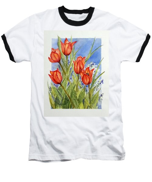 Simply Tulips Baseball T-Shirt