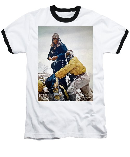Sir Edmund Hillary Baseball T-Shirt