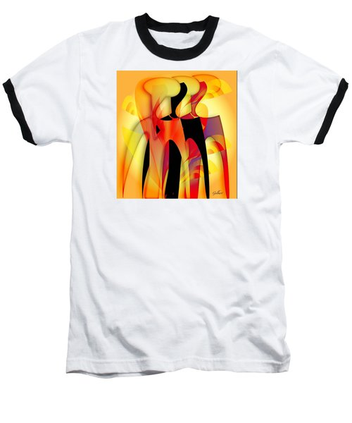 Sisters 4 Baseball T-Shirt by Iris Gelbart