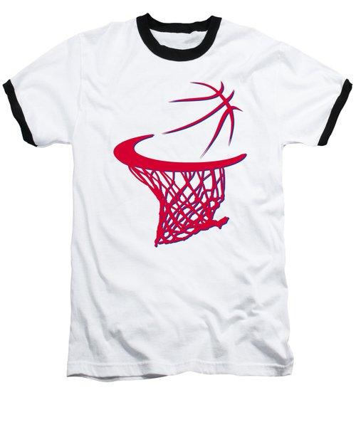Sixers Basketball Hoop Baseball T-Shirt