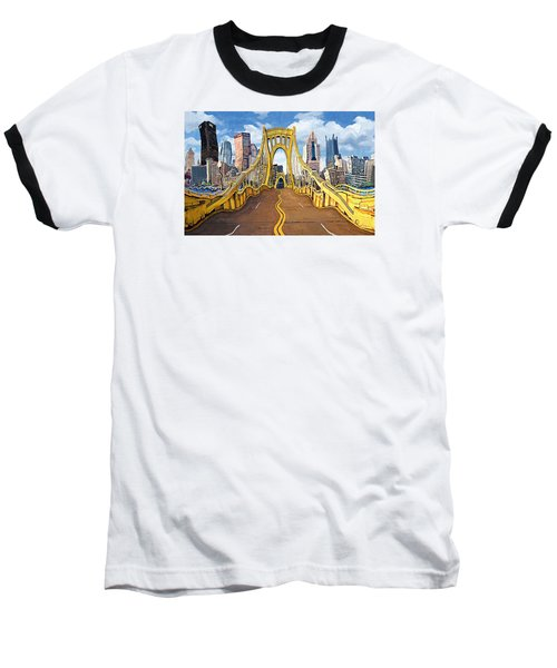 Sixth Street Bridge, Pittsburgh Baseball T-Shirt