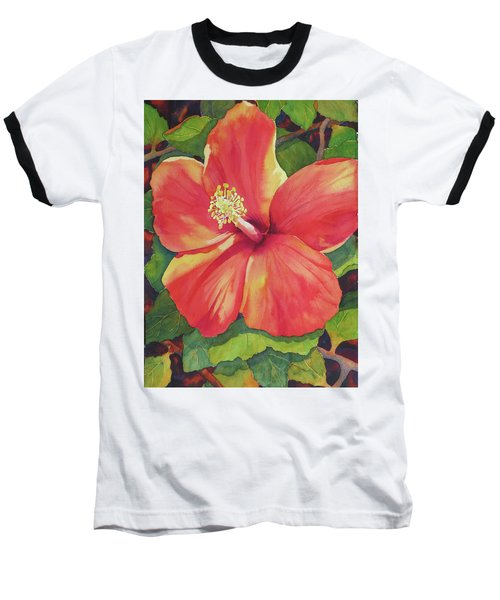 Baseball T-Shirt featuring the painting Sizzle by Judy Mercer