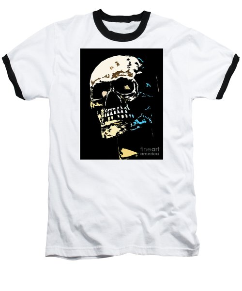 Skull Against A Dark Background Baseball T-Shirt
