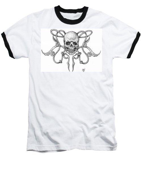 Skull Design Baseball T-Shirt