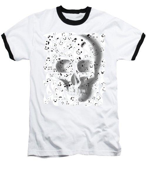 Skull Doodle Baseball T-Shirt