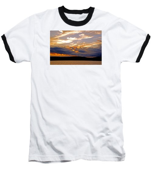 Baseball T-Shirt featuring the photograph Sky Fire by Lynda Lehmann