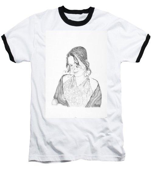 Baseball T-Shirt featuring the drawing Skye by Mayhem Mediums