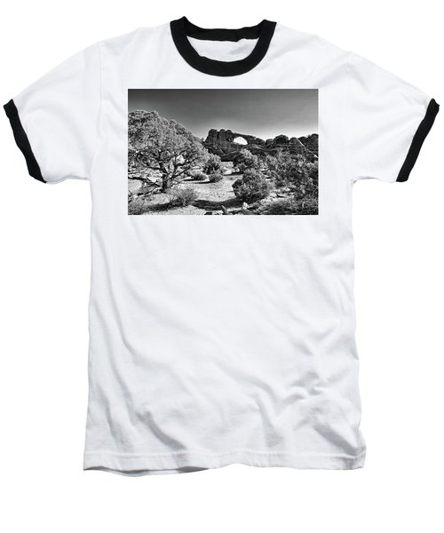 Skyline Arch In Arches National Park Baseball T-Shirt