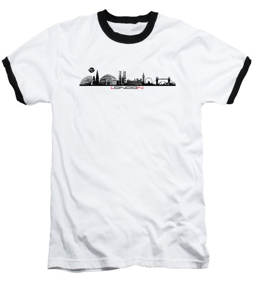 skyline city London black Baseball T-Shirt