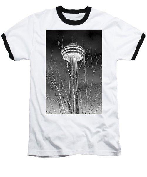 Baseball T-Shirt featuring the photograph Skylon Tower by Valentino Visentini