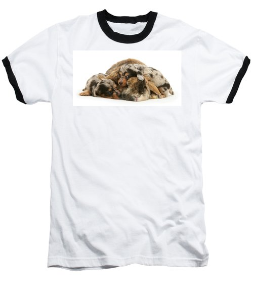 Sleep In Camouflage Baseball T-Shirt