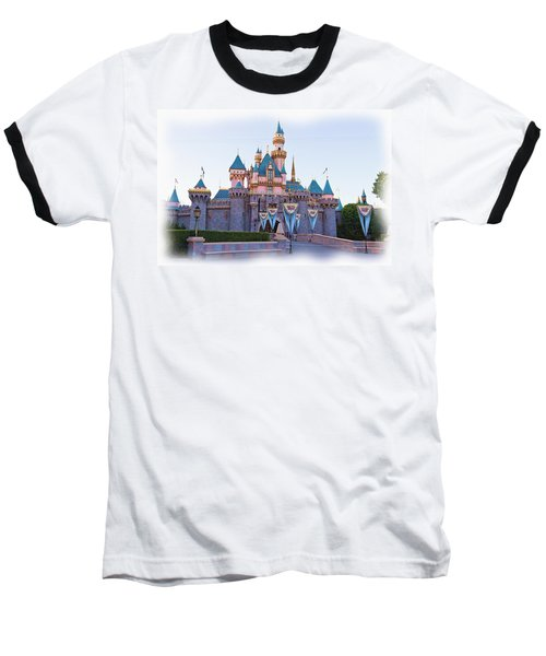 Sleeping Beauty's Castle Disneyland Baseball T-Shirt